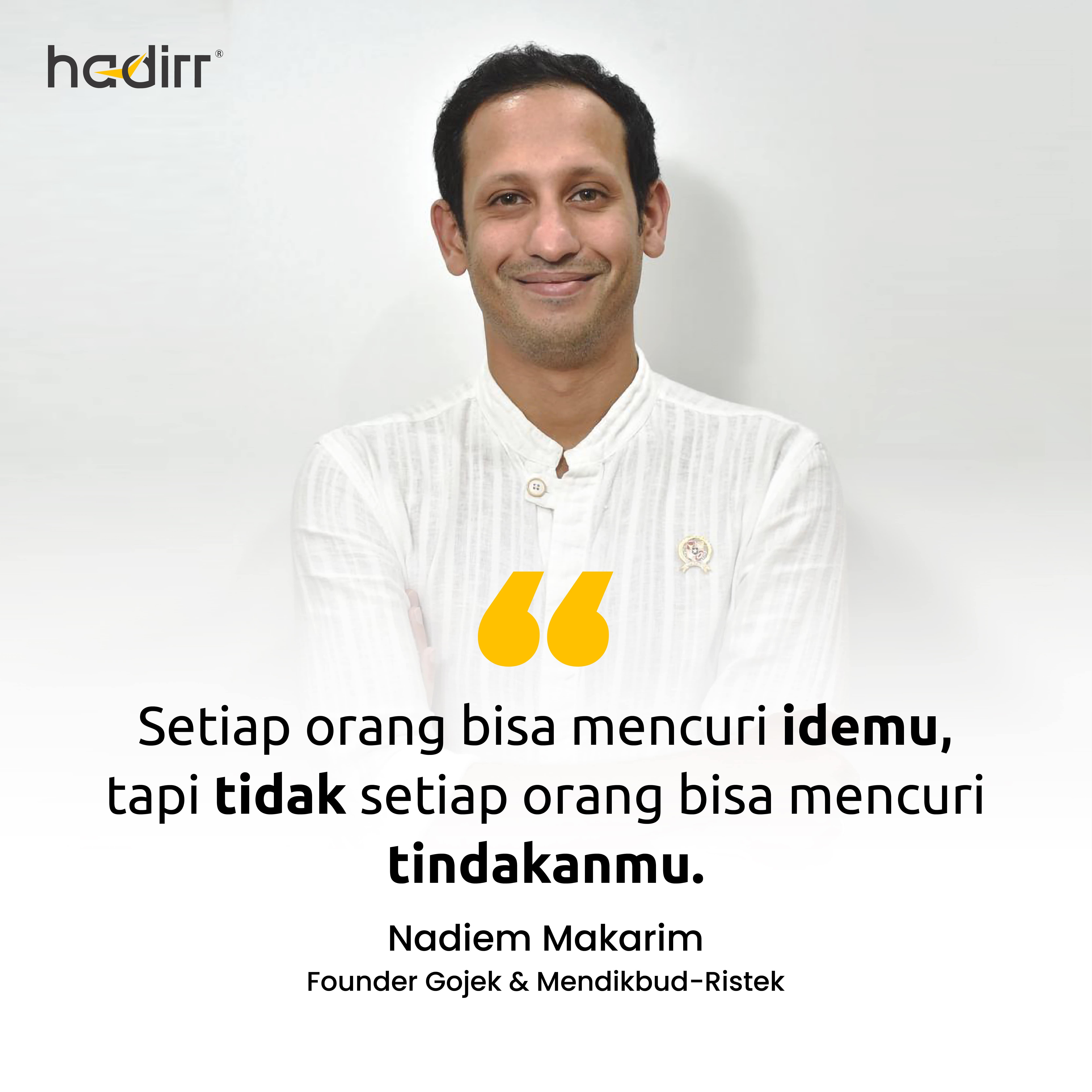 Quote Nadiem Makarim